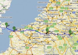 Finished our Channel-Triathlon in Aachen on Monday afternoon (Ärmelkanal-Triathlon Dover – Aachen, 3.-6. Sept. 2010)
