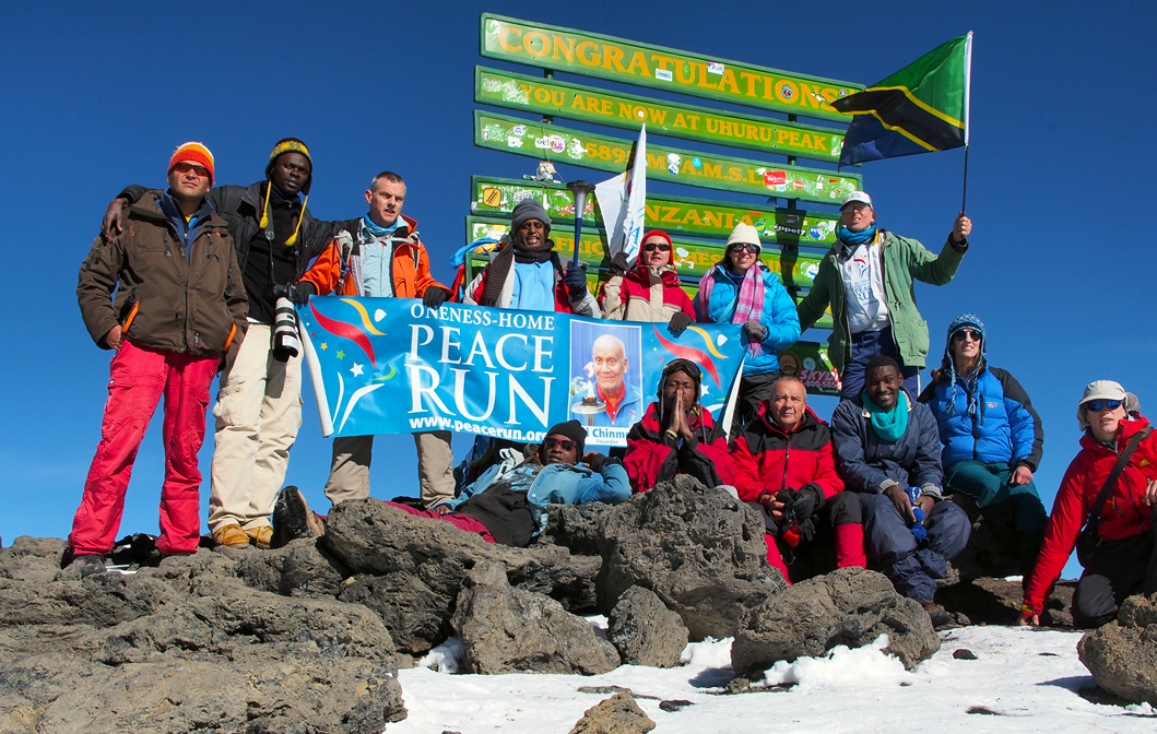 Safely back – and the peace torch made it up to Kili!