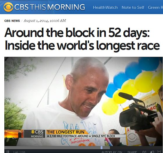 Around the block in 52 days – CBS reports on the 3100 mile race in N.Y.